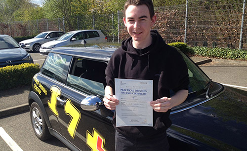 Passed learner using our driving lessons in Norwich